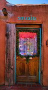 Framed Old Town Door Photograph Prints - Studio Door Print by Steven Ainsworth