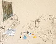 Amy Bernays - Studio Drawing