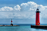 Metal Pier Prints - Studio Lighthouse Print by Joan Carroll