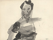 Studio Drawings Prints - Studio model Print by Ethel Vrana