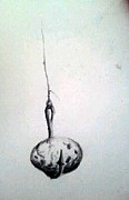 Suspension Drawings - Study for A Good Strong Knot by Mary C Farrenkopf