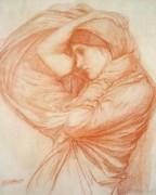 Study For Boreas Print by John William Waterhouse