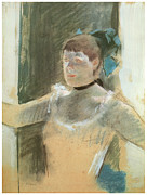 Art Of Ballet Prints - Study for Bust of a Dancer Print by Edgar Degas