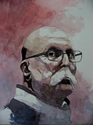 Watercolour Portrait Prints - Study for Giovanni Print by Ray Agius