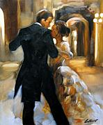 Couples Painting Metal Prints - Study for Last Dance 2 Metal Print by Stuart Gilbert