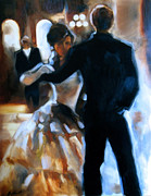 Ballroom Painting Posters - Study for Last Dance Poster by Stuart Gilbert