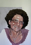 Watercolour Portrait Prints - Study for Pauline Print by Ray Agius