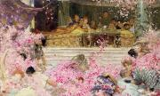 Cherry Blossom Painting Prints - Study for The Roses of Heliogabulus Print by Sir Lawrence Alma-Tadema