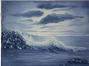 Monotone Paintings - Study in Blue by Barbara McDevitt
