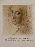 After Old Masters - Study Madona of the Rocks after Leonardo by Gary Kaemmer