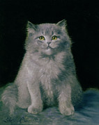 Staring Paintings - Study of a cat  by Lilian Cheviot