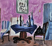 Purple Originals - Study of a Room by Reb Frost