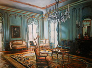 18th Century Painting Originals - Study of a stateroom from the Palais Paar by James Falciano