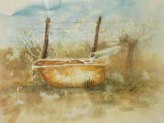 Vicki  Housel - Study of a watering tub