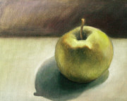 Fruit Still Life Framed Prints - Study of an Asian Pear Framed Print by Katherine DuBose Fuerst