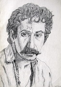 Julie Coughlin Framed Prints - Study of Jim Croce Framed Print by Julie Coughlin
