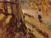 Road Paintings - Study of tree trunks by John Constable