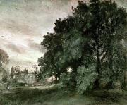 Crows Paintings - Study of Trees by John Constable