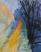 Washington D.c. Originals - Study of Wolf Kahns-The Towpath by Robert Larson