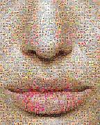Photomosaic Prints - Study One Print by Gilberto Viciedo