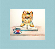 Catia Cho Metal Prints - Studying for grandpa Metal Print by Catia Cho