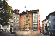 Old Houses Photos - Stuessihofstatt Zurich Switzerland by Susanne Van Hulst