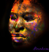 Portrait Digital Art - Stunning African Mask  by Alexandra Jordankova