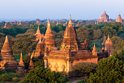 Bagan Photos - Stupas In The Bagan Archaeological Zone In Bagan, Myanmar by Mint Images/ Art Wolfe