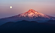 Sturgeon Moon Over Mount Hood Print by Jon Ares
