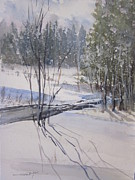 Northern Michigan Paintings - Sturgeon Valley Sudden Squall by Sandra Strohschein