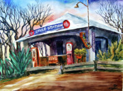 Service Station Paintings - Style Station by Ron Stephens
