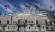 Soldier Field Prints - Stylized Soldier Print by David Bearden