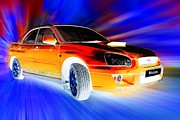 Sports Art Digital Art - Subaru by Sharon Lisa Clarke