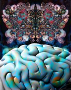 Psychological Process Prints - Subconsciousness, Conceptual Image Print by Stephen Wood
