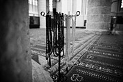 Gazimagusa Prints - Subha Misbaha Tasbih Prayer Beads Hanging In The Lala Mustafa Pasha Mosque  Print by Joe Fox