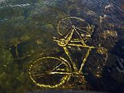 Bike Pyrography Originals - Submarine bike by Catalin Mihaila