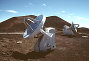 Telescopes Posters - Submillimetre Array Telescopes Poster by Magrath Photography