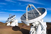 Telescopes Prints - Submilllimeter Array Telescopes, Hawaii Print by David Nunuk