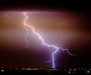 Lightning Weather Stock Images Prints - Subsequent Electrical Transfer Print by James Bo Insogna