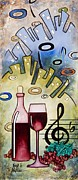 Jazz Artwork Painting Originals - Suburban Nights by Virgil Stephens