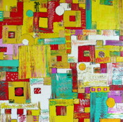 Suburbs Paintings - Suburbia by Dawn Hough Sebaugh