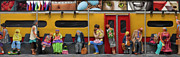 New York City Mixed Media - Subway - Lonely Travellers by Anne Klar