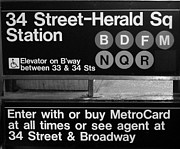 Herald Framed Prints - Subway 34 Street Framed Print by Debbi Granruth