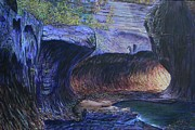 Zion National Park Paintings - Subway at Zion National Park by LeRoy Jesfield