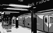 Nyc Digital Art Metal Prints - Subway BW3 Metal Print by Scott Kelley