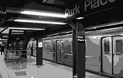 Nyc Digital Art Metal Prints - Subway BW6 Metal Print by Scott Kelley