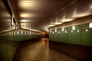 Stair-rail Photos - Subway Path by Svetlana Sewell