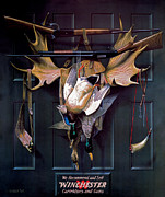 Waterfowl Painting Posters - Successful Hunter  Door Art Poster by Alexander Pope