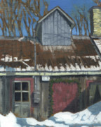 Quebec Paintings - Sucrerie de la Montagne by David Kelavey