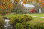 Sudbury Art - Sudbury Grist Mill and Stream by John Burk